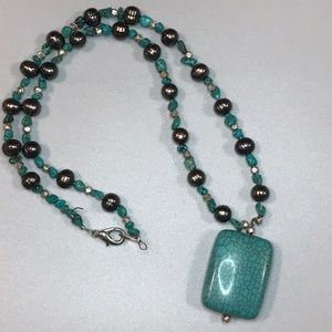 Artisan-made Turquoise colored Necklace